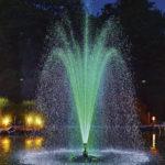 pondjet groen verlicht